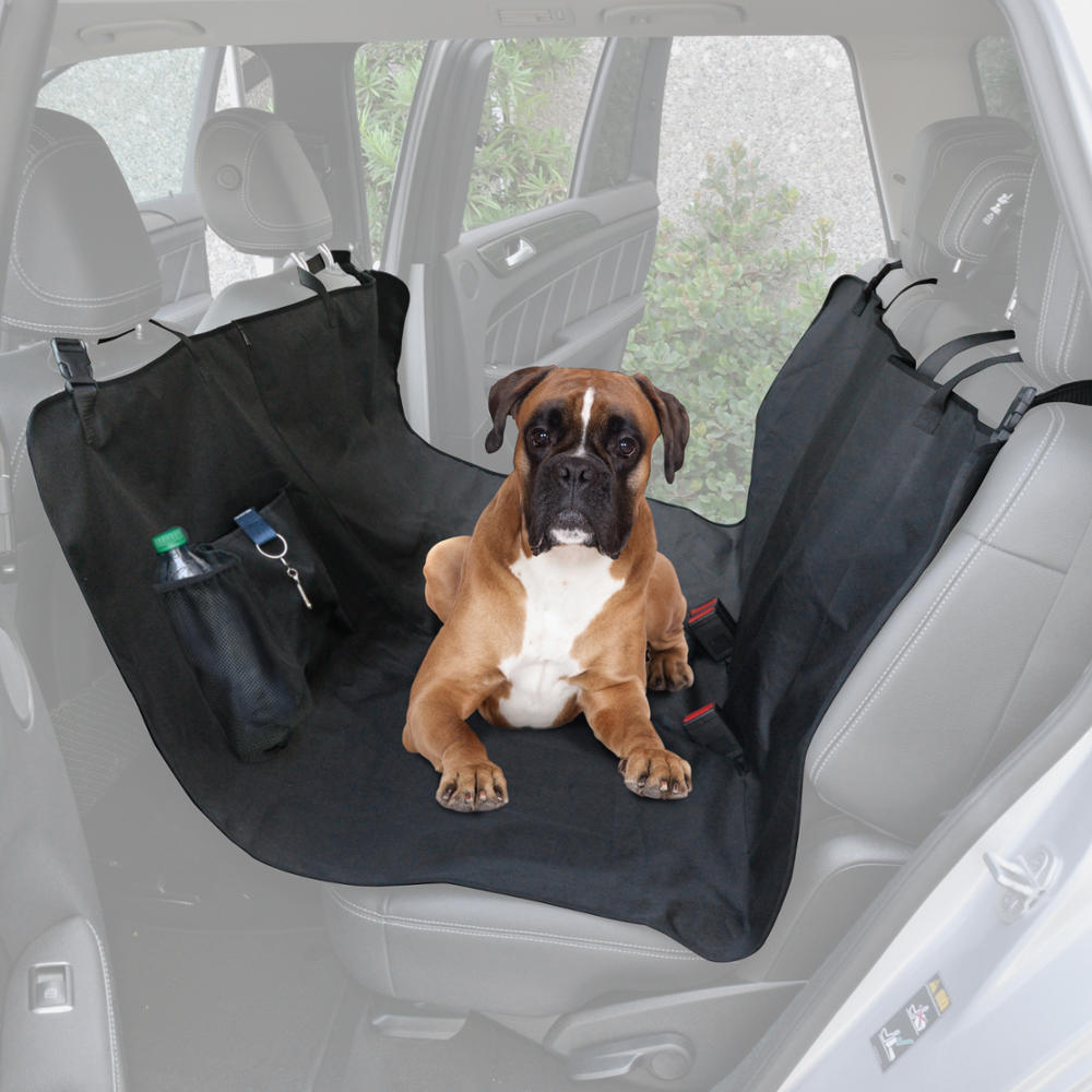 BDK TravelDog Auto Pet Dog Cat Car Seat Cover for Rear Bench - Waterproof Hammock with Pocket 55x 58 Inch
