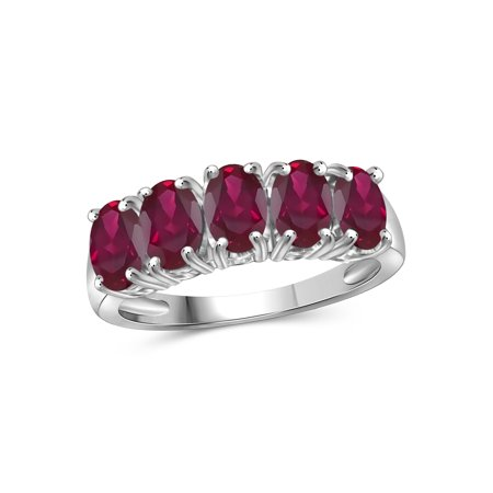 2.40 Carat T.G.W. Ruby Gemstone Women's Ring (Gemstone Ruby Ring)
