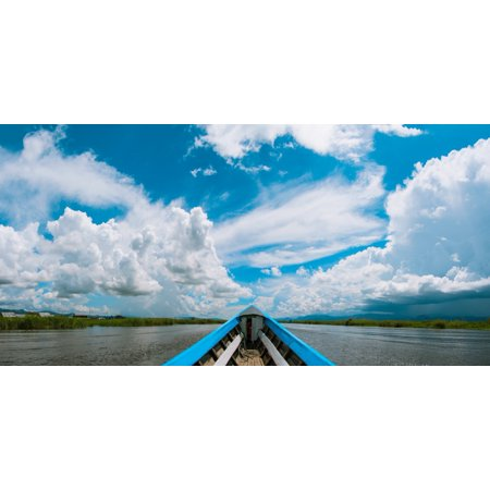 Clouds above the Inle Lake Shan State Myanmar Poster Print by Panoramic Images