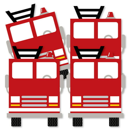Fired Up Fire Truck - Decorations DIY Firefighter Firetruck Baby Shower or Birthday Party Essentials - Set of 20 - Fire Truck Birthday Supplies