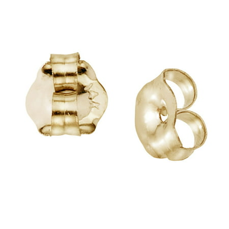 14k Yellow Gold 6 mm Replacement Earring Backs (1