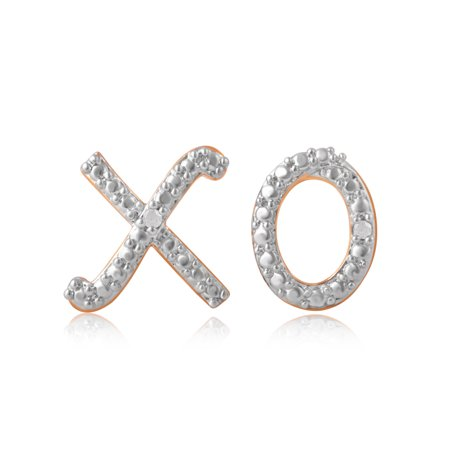 Diamond Accent X O Stud Mix And Match Earring