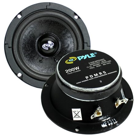 "2) PYLE Pro PDMR5 5"" 400W Car DJ/Home Mid Bass MidRange Speakers Drivers Audio"