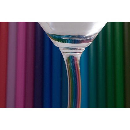 LAMINATED POSTER Glass Colorful Colored Pencils Achieve Color Poster Print 24 x 36