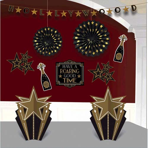 Hollywood 'Glitz and Glam' Room Decorating Kit (10pc)