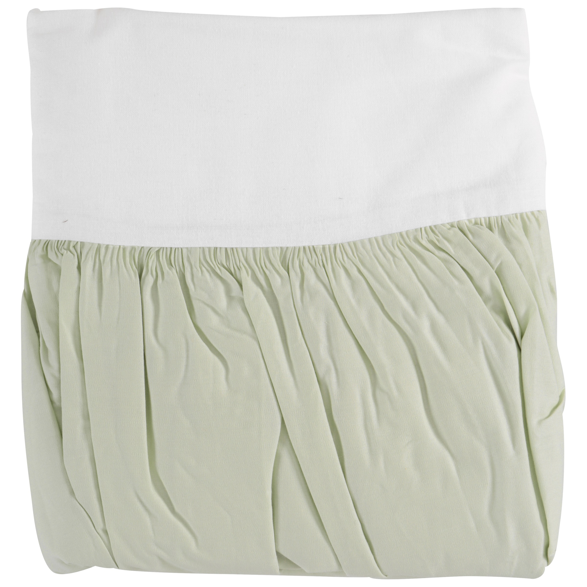 TL Care® 100% Cotton Percale Light Green Crib Bed Skirt Pack