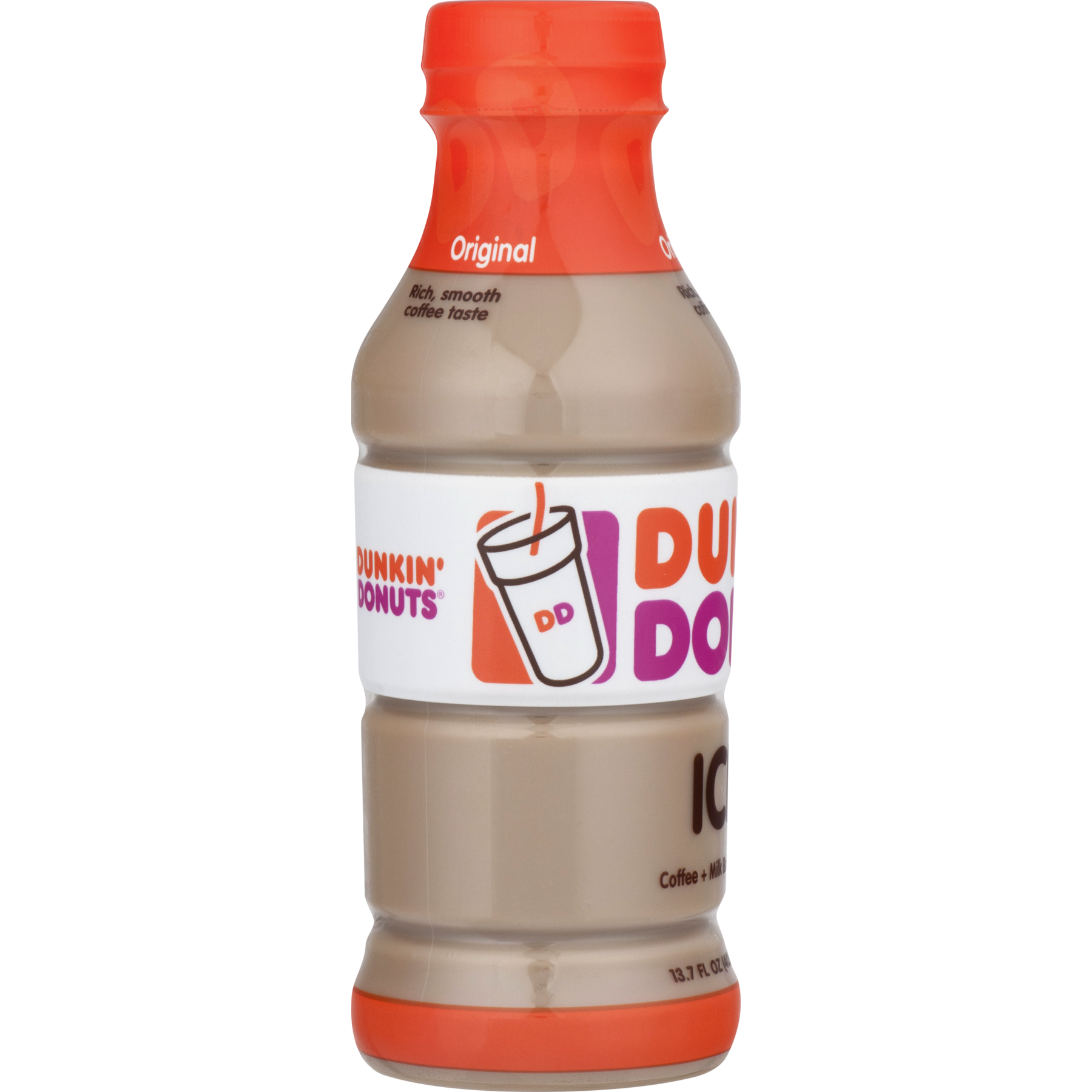 Dunkin\' Donuts Original Iced Coffee 13.7 fl. oz. Bottle - Walmart.com