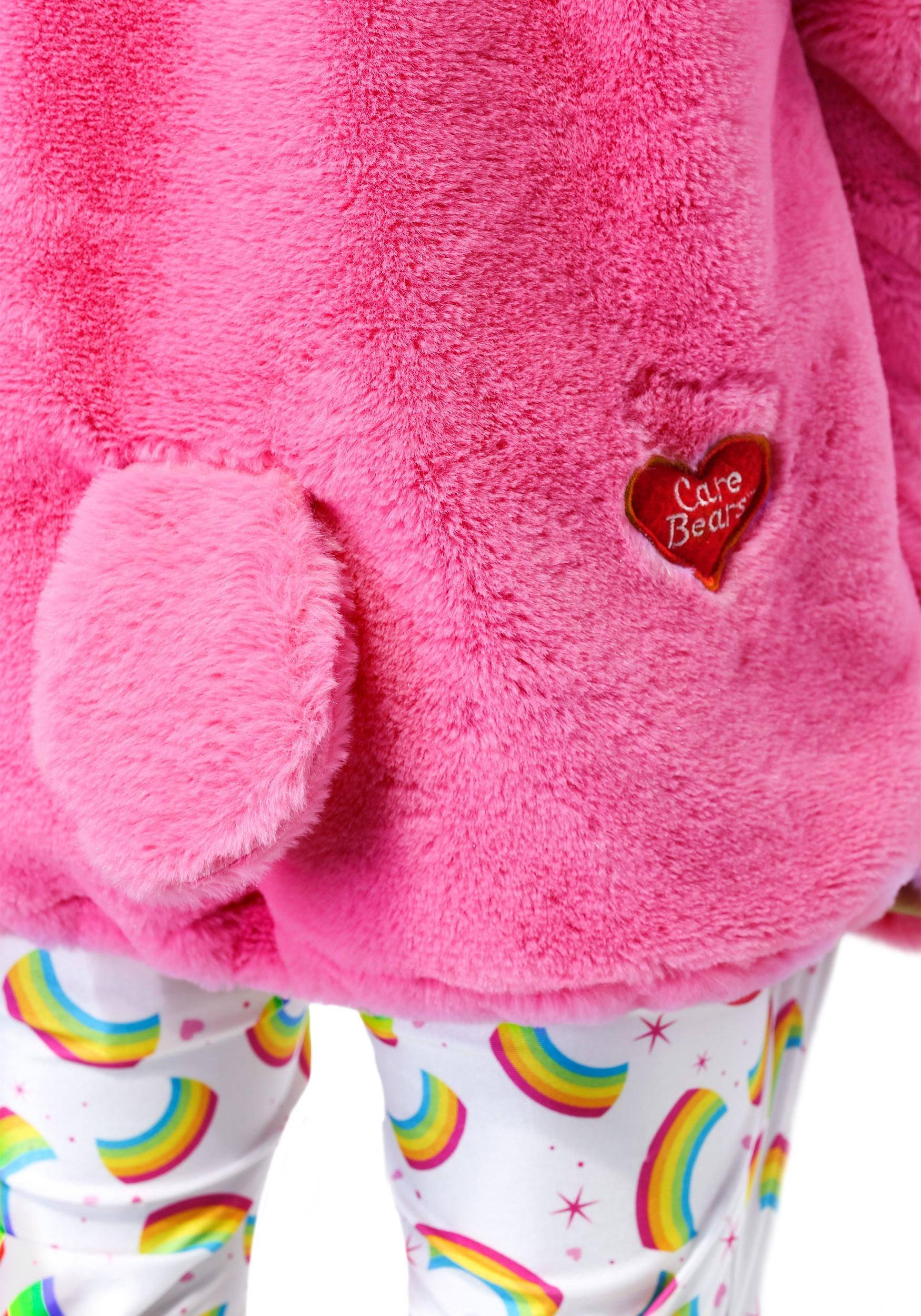 Girls Child Care Bears Deluxe Pink Rainbow Cheer Bear Costume Dress