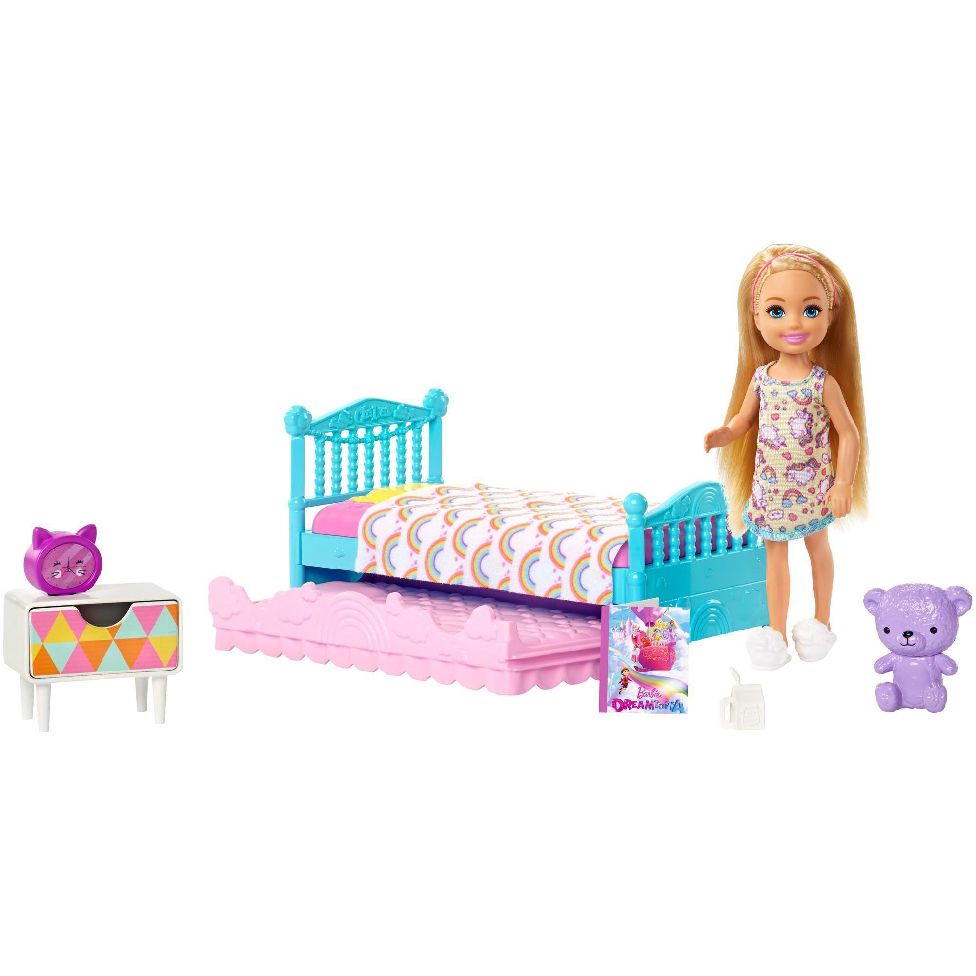Girls Pillow Cover Shams Pink Purple Bed Childrens Kids Bedroom Barbie Chelsea