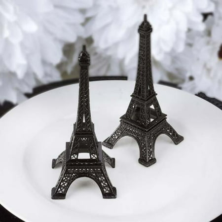 Efavormart EIFFEL Tower Banquet Centerpiece Decoration, Black, 6in (Black And Silver Centerpiece Ideas)