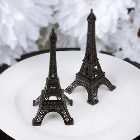 Efavormart EIFFEL Tower Banquet Centerpiece Decoration, Black, 6in (Cool Centerpieces)