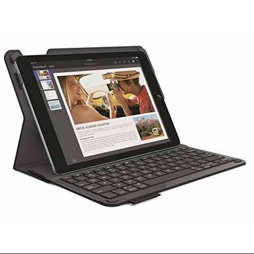 Logitech Type+ Protective Case with Integrated Keyboard for iPad Air, Black (920-006538)
