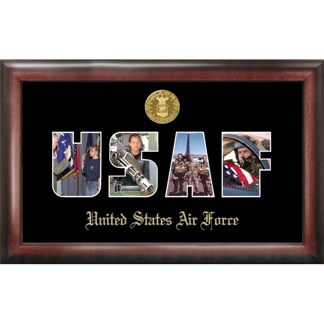 Campus Image AFSSG001 Air Force Collage Photo Frame Gold Medallion