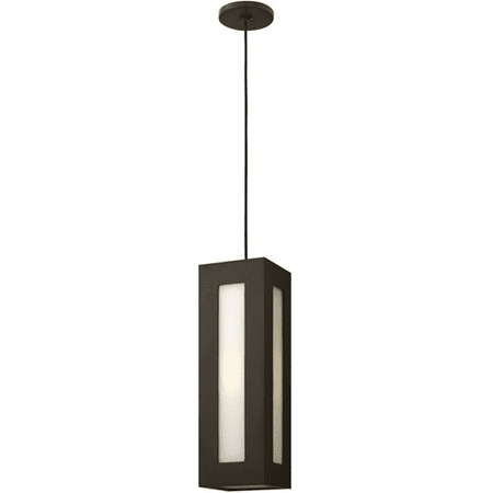 Outdoor Pendant 1 Light With Bronze Clear Painted White Inside Aluminum Medium Base 6 inch 100 Watts