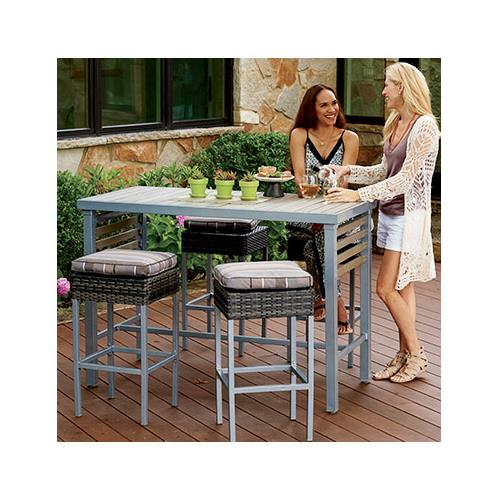Sunjoy Group Intl Pte S-DN036-5ST Delphi 5-Pc. Table & Chair Set, Counter-Height