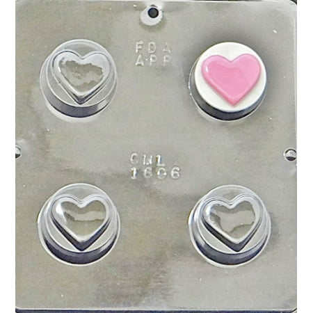 Heart Chocolate Mould (1606 Heart Oreo Cookie Chocolate Candy Mold)