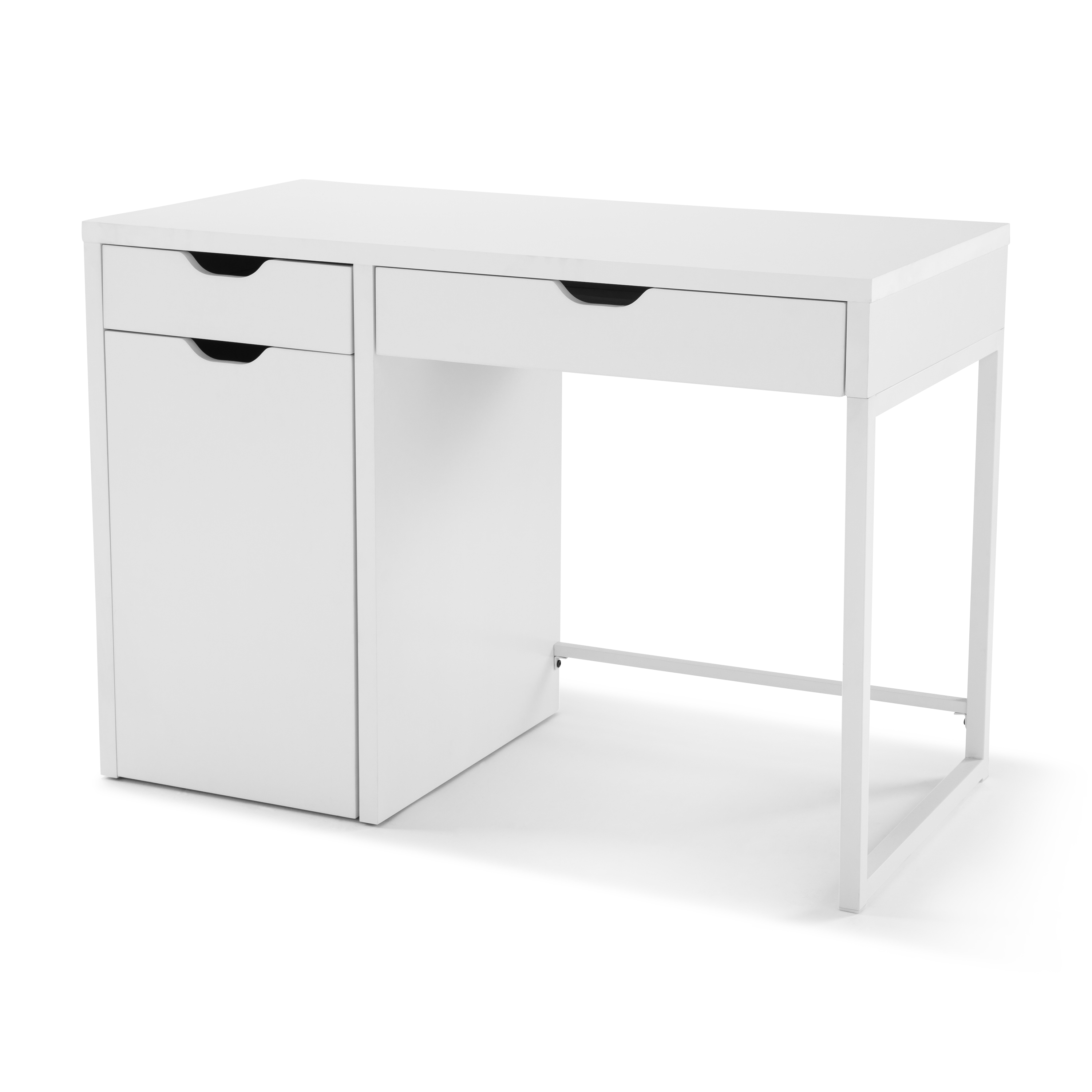 Mainstays Perkins Desk With Metal Frame With Storage For File Cabinet,  Multiple Colors