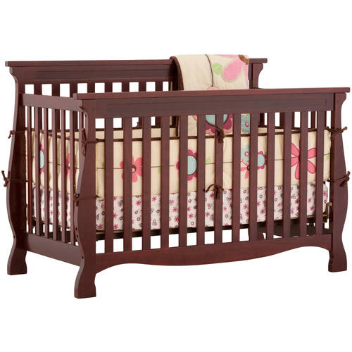 Storkcraft - Carrara Fixed-Side 4-in-1 Convertible Crib, Cherry