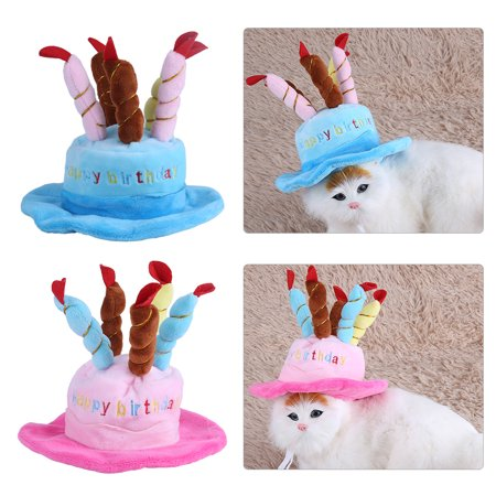 Dilwe Candles Design Pet Costume Birthday Hats Accessory For Dogs Small Animals Dog Hat