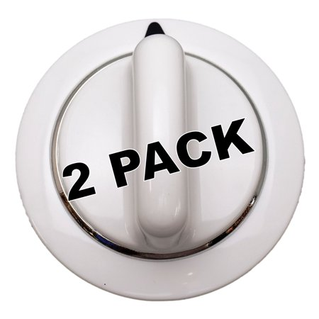 2 Pk, Dryer Knob, White, for General Electric, Hotpoint AP3995088,