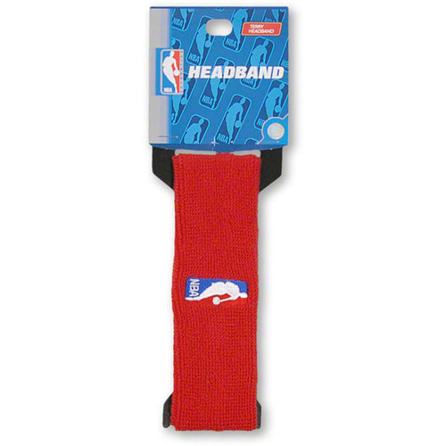 NBA - Official NBA On-Court Logoman Headband - Red
