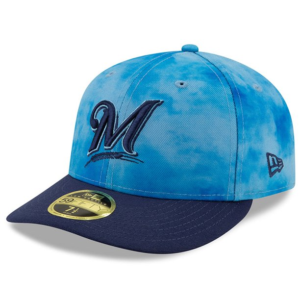 Milwaukee Brewers New Era Father's Day On-Field Low Profile 59FIFTY Fitted Hat - Blue/Blue