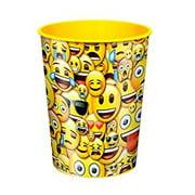 Smile Emoji Plastic Cup, 16 oz, 1ct by Unique Industries