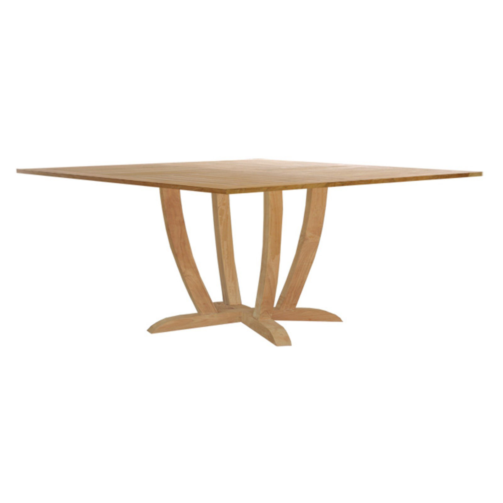 Chic Teak Amsterdam Teak Square Patio Dining Table by