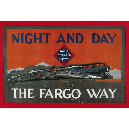 Wells Fargo Express 1915 Nbanner For Wells Fargo   Co Express 1915 Poster Print By Granger Collection