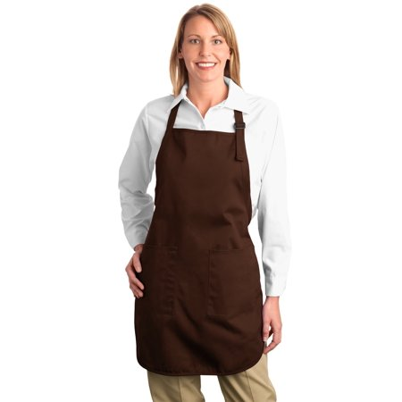 Port Authority® Full Length Apron With Pockets.  A500 Coffee Bean Osfa - image 1 of 1