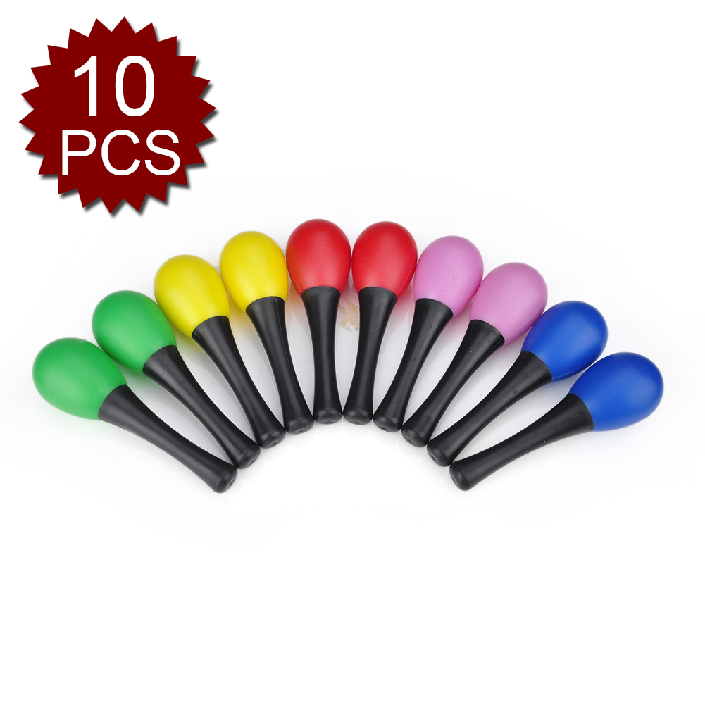 Aspire 10Pcs Musical Instruments Maracas Kids Eeducational Toys