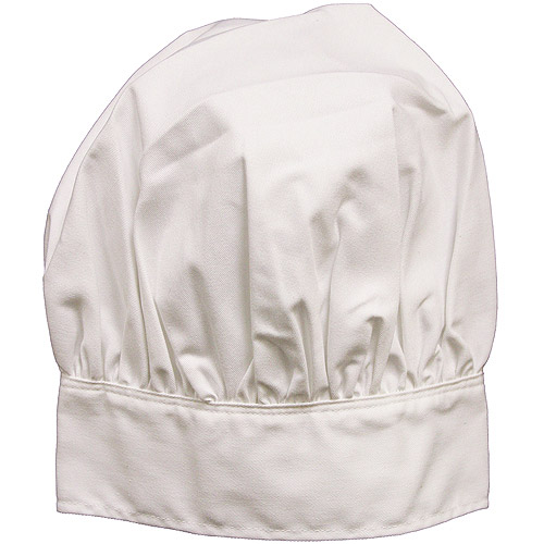 Mark Richards Adult Chef Hat, White Multi-Colored