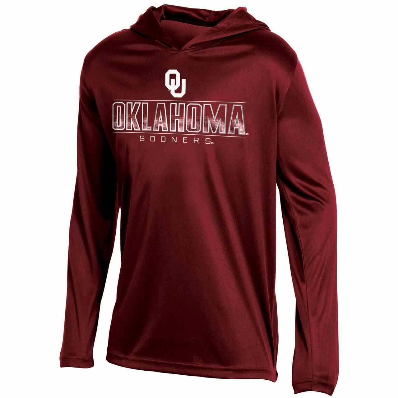 Youth Russell Crimson Oklahoma Sooners V-Neck Pullover Hoodie