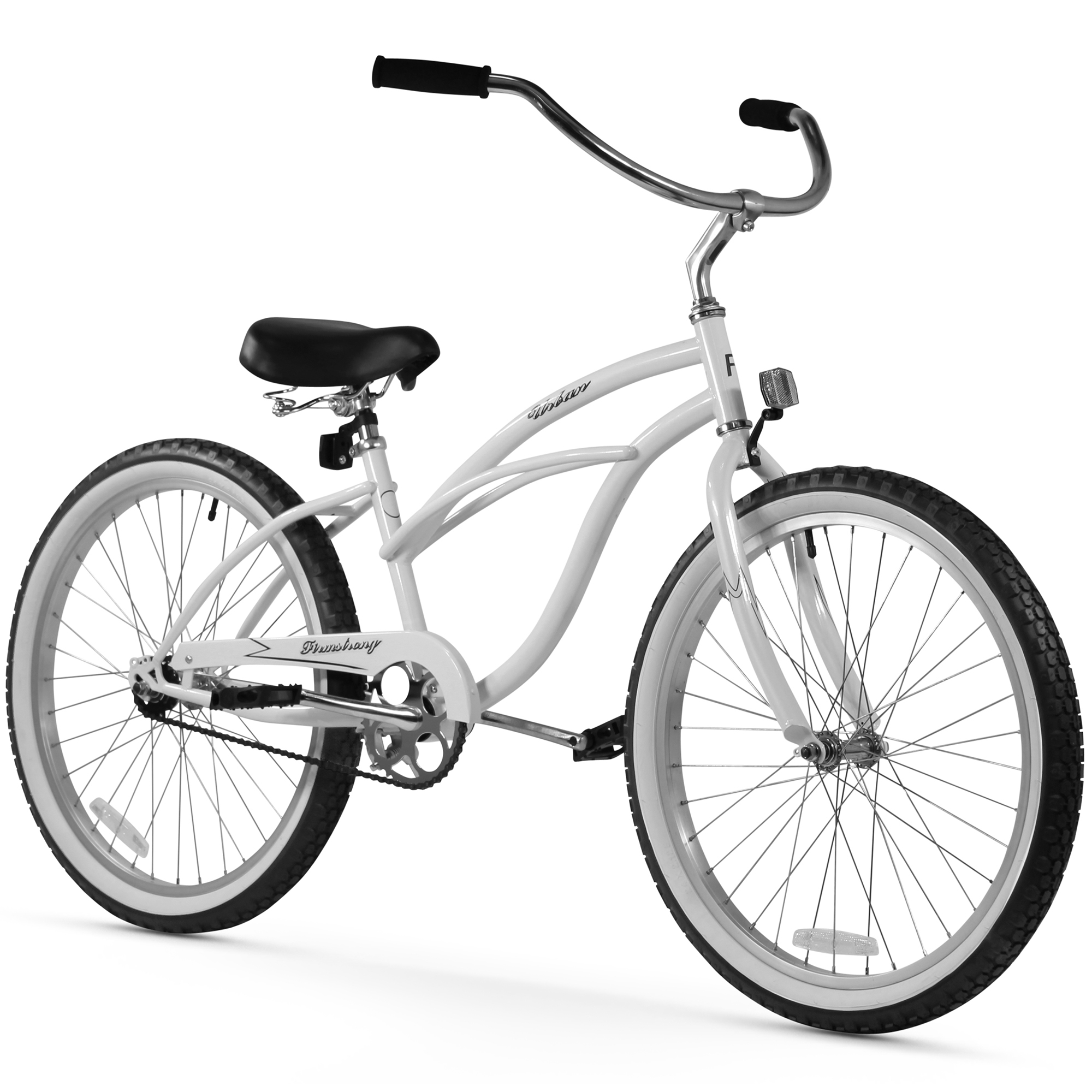 "Firmstrong 24"" Women's Urban Lady Beach Cruiser Bicycle, 1 and 3 Speed"