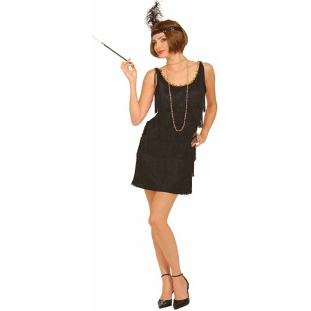 Fashion Flapper Women's Adult Halloween Costume, Black
