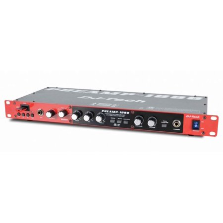 Dj Tech PREAMP1800 Djtech Pre Amp With Usb Front And Rear (Pre Amp Dj Speakers)