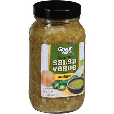 (3 Pack) Great Value Cantina Salsa Verde, 24 - Three Banditos Salsa