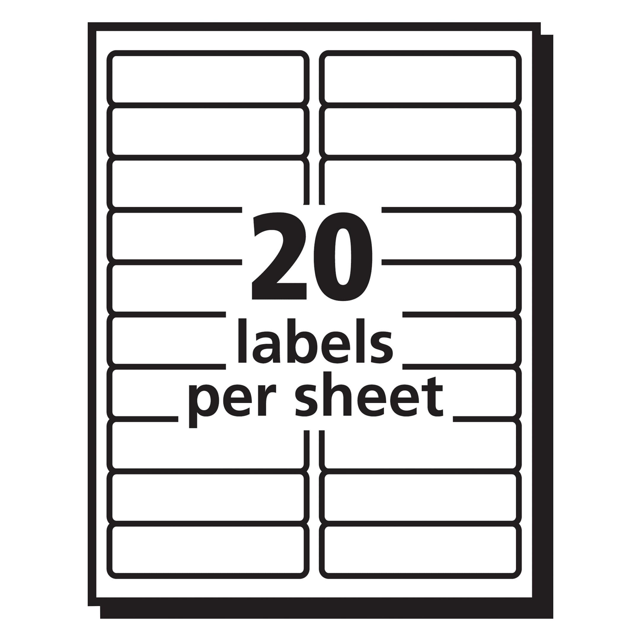 Avery Matte Clear Easy Peel Address Labels Laser 1 X 2 58 750