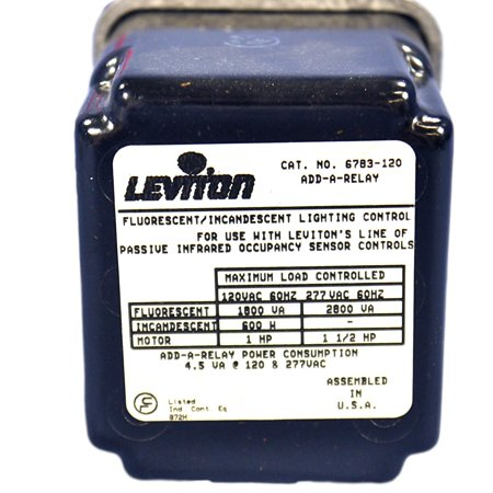 Leviton Occupancy Sensor Add-A-Relay Coil 120V Incandescant Fluorescent 6783-120
