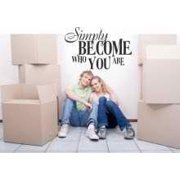 Simply Become Who You Are Picture Art – Living Room – Home Decor Sticker Vinyl Wall Decal