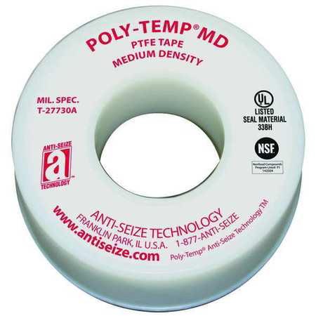Sealant Tape,1/2 In. W,260 In. L ANTI-SEIZE TECHNOLOGY 16030A