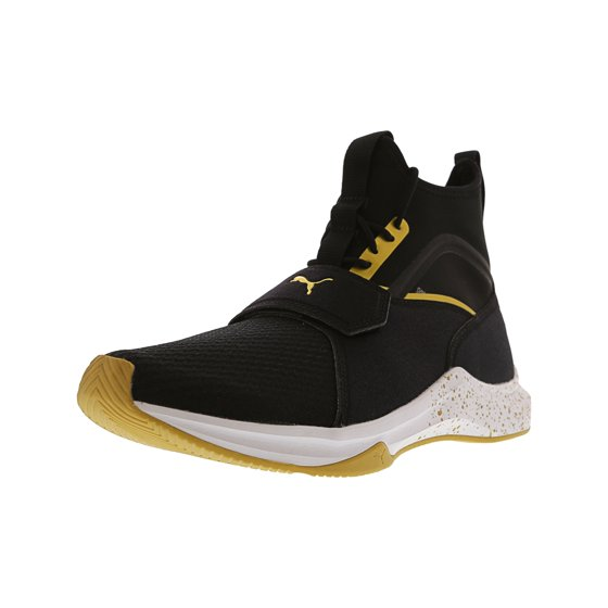 eda72cdca22 PUMA - Puma Women s Phenom Black   Team Gold High-Top Fabric Fashion Sneaker  - 10M - Walmart.com