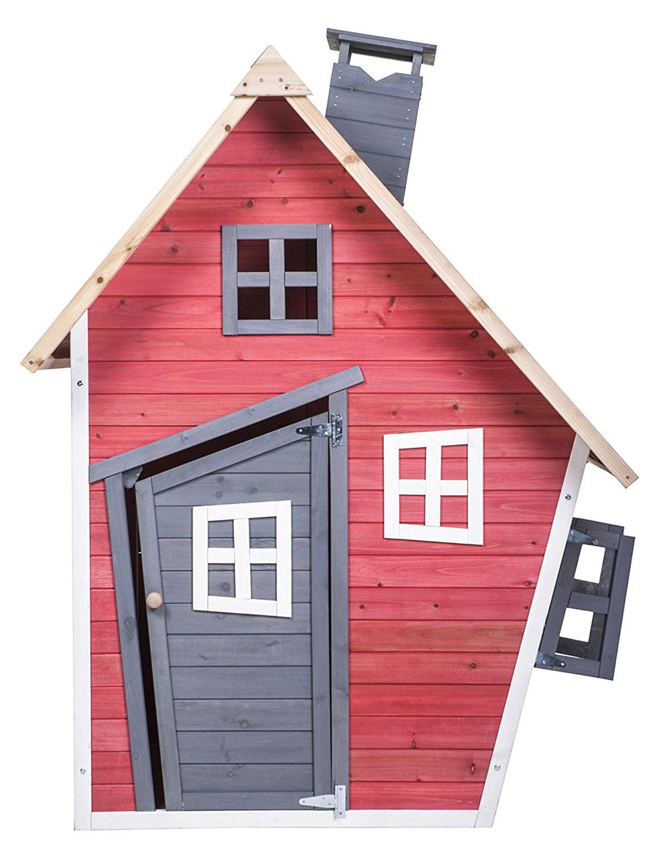 Merax Childrens Wood Playhouse Indoor Outdoor Backyard Environmental Friendly Paint