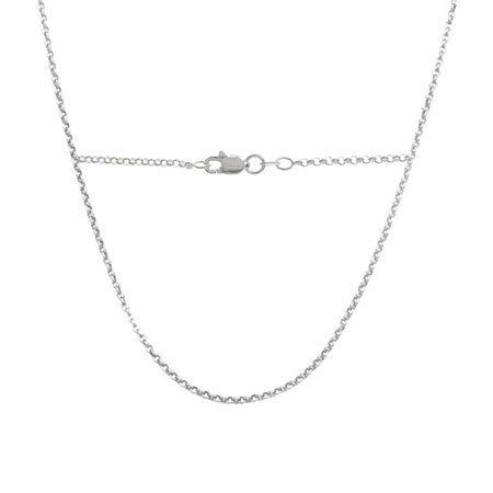 - PORI Jewelers Italian Sterling Silver Rolo Chain Necklace, 24