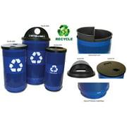 Witt Industries SC35HT-RHS Recycling Hood Top Lid 1 Round Opening - Black