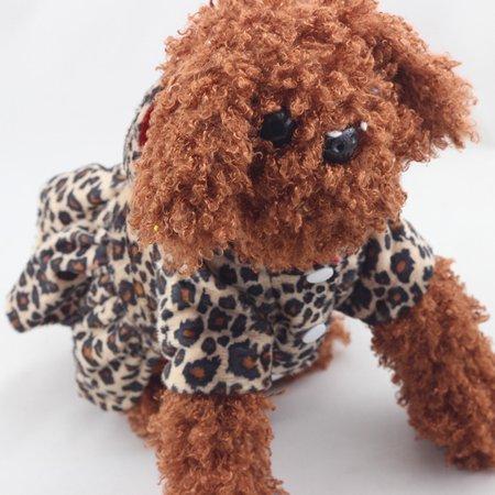 Pets Dogs Dress Leopard Print Pattern Tutu Coat Dress Puppy Hoodies 2 Sides Both Wear Fashion Clothing