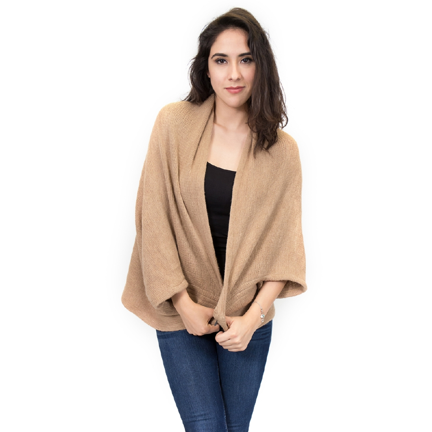 Zodaca Elegant Poncho Capes Shawl Cardigans Sweater Jacket Coat by Overstock