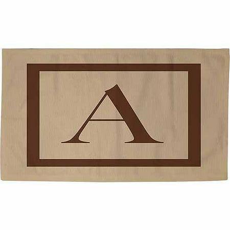 Thumbprintz Classic Block Monogram Rug, Caramel