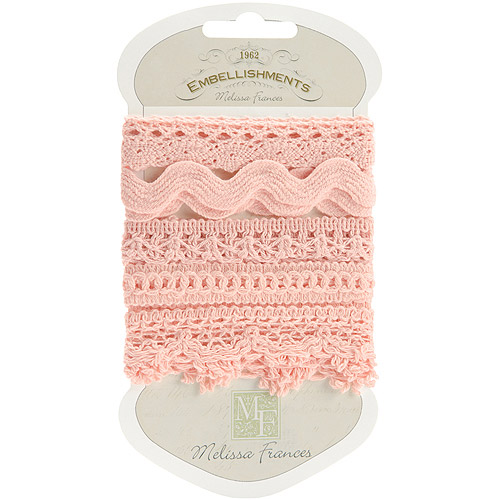 Melissa Frances Crocheted Lace Trim, Pink