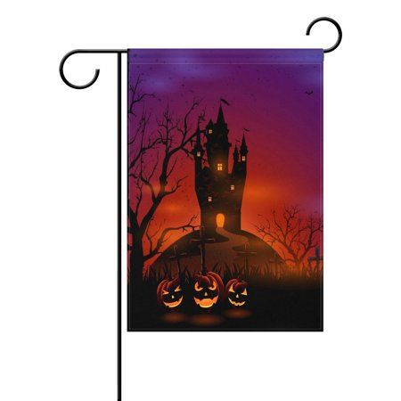 POPCreation Halloween Pumpkin Castle Garden Flag Outdoor Flag Home Party 28x40 inches](Castle Halloween Party)